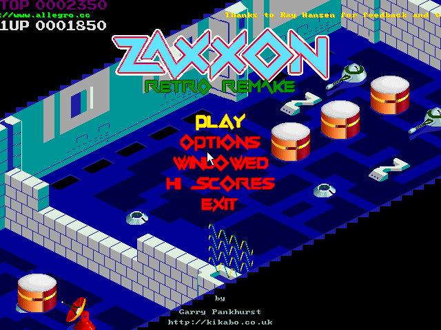 InvisionGames :: Downloads :: Retro Games :: Zaxxon RetroRemake